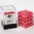 Blackfire Dice Cube - 12mm D6 36 Dice Set - Transparent Watermelon Red 91695