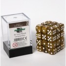 Blackfire Dice Cube - 12mm D6 36 Dice Set - Marbled Dark Brown 91727
