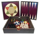 Front Porch Classics 5-in-1 Traditional Wooden Game Set /Toys