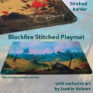 Galda spēle Blackfire Stitched Playmat - Svetlin Velinov Edition Plains - Ultrafine 2mm BFPM403471