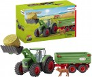 (D) Schleich - Tractor with Trailer (Damage Packaging) /Toys