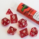 Blackfire Dice - 16mm Role Playing Dice Set - Magic Red (7 Dice) 40037