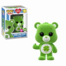 Funko POP! Care Bears - Good Luck Bear Flocked Vinyl Figure 10cm ECCC Exclusive FK28472