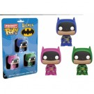 Funko POP! DC Comics - Pocket POP! Batman Multicolor 3-Pack vinyl figures 4cm Set One FK10558