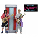 Bill & Ted's Excellent Adventure Clothed Action Figures 18cm Deluxe Boxed Set incl. Phone Booth NECA12160