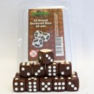 Blackfire Dice - 16mm D6 Dice Set - Brown (15 Dice) 40014
