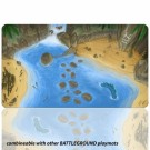 Blackfire Playmat - Battleground Edition Island - Ultrafine 2mm BF08872