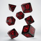 Galda spēle Dragons Black & red Dice Set (7) SDRA06