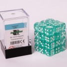 Blackfire Dice Cube - 12mm D6 36 Dice Set - Transparent Cyan 91702