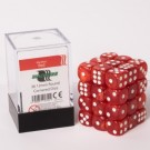 Blackfire Dice Cube - 12mm D6 36 Dice Set - Marbled Red 91711