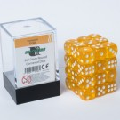 Blackfire Dice Cube - 12mm D6 36 Dice Set - Transparent Gold 91706