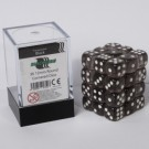 Blackfire Dice Cube - 12mm D6 36 Dice Set - Transparent Black 91710