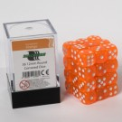 Blackfire Dice Cube - 12mm D6 36 Dice Set - Transparent Orange 91708