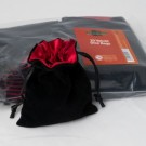 Blackfire Dice - Velvet Dice Bag with Red Satin Lining & No Logo (20 Bags)