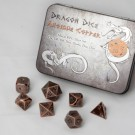 Blackfire Dice - Metal Dice Set - Antique Copper (7 Dice)