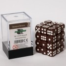 Blackfire Dice Cube - 12mm D6 36 Dice Set - Opaque Brown 91691