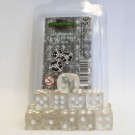Blackfire Dice - 16mm D6 Dice Set - Transparent White (15 Dice) 40025