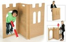 Insiprational Nurseries 3 Panel Castle Set, Wood, Brown, 100x108x71 cm /Toys