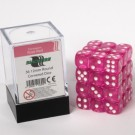 Blackfire Dice Cube - 12mm D6 36 Dice Set - Transparent Rose Red 91694