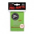 UP - Standard Sleeves - Pro-Matte - Non Glare - Lime Green (50 Sleeves) 84190