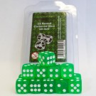 Blackfire Dice - 16mm D6 Dice Set - Transparent Light Green (15 Dice) 40023