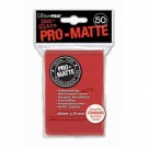 UP - Standard Sleeves - Pro-Matte - Non Glare - Red (50 Sleeves) 82650