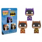 Funko POP! DC Comics - Pocket POP! Batman Multicolor 3-Pack vinyl figures 4cm Set Two FK10559