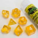 Blackfire Dice - 16mm Role Playing Dice Set - Crystal Yellow (7 Dice) 40036