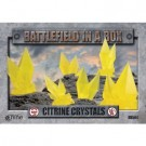 Battlefield In A Box - Citrine Crystals - Yellow - (x6) - 30mm BB594