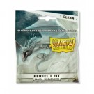 Dragon Shield Standard Perfect Fit Sideloading Sleeves - Clear/Clear (100 Sleeves) 13101
