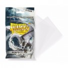 Dragon Shield Standard Perfect Fit Sleeves - Clear/Clear (100 Sleeves) 13001