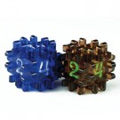 Blackfire Constructible Dice - Blue & Brown 40166