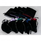 Galda spēle Blackfire Dice - Velvet Dice Bags 10x10Cm with Satin Lining (mixed colors) & No Logo (20 Bags) BLCKDC-VB10