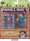 "MineCraft 3"" Action Figure - Steve With Minecraft"
