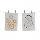 Funko POP! Homewares Star Wars Episode 8: The Last Jedi - Tea Towel Set of 2: Droids Exploded View FKSW05487