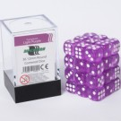 Blackfire Dice Cube - 12mm D6 36 Dice Set - Transparent Light Purple 91699