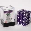 Blackfire Dice Cube - 12mm D6 36 Dice Set - Marbled Purple/White 91724
