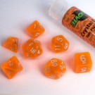 Blackfire Dice - 16mm Role Playing Dice Set - Crystal Orange (7 Dice) 40034