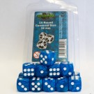 Blackfire Dice - 16mm D6 Dice Set - Marbled Light Blue (15 Dice) 40016
