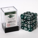 Blackfire Dice Cube - 12mm D6 36 Dice Set - Marbled Dark Green 91718