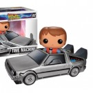 Funko POP! - Back To The Future - Delorean Car & Marty Action Figures Set 8-inch & 4-inch Scale FK3401