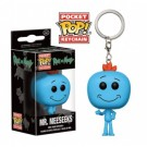 Funko Pocket POP! Keychain Rick and Morty - Mr. Meeseeks Action Figure 4cm FK12921
