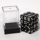 Blackfire Dice Cube - 12mm D6 36 Dice Set - Opaque Black 91682