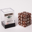 Blackfire Dice Cube - 12mm D6 36 Dice Set - Marbled Coffee 91728