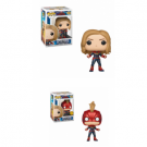 Funko POP! Captain Marvel - Captain Marvel Vinyl Figure 10cm Assortment (5+1 chase figure) FK36341case