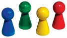 Betzold 1868 Giant Wooden Cone Set (20-Piece) Red /Toys