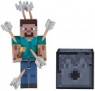 "Minecraft - 3"" Action Figure - Steve with Arrows /Toy"