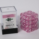 Blackfire Dice Cube - 12mm D6 36 Dice Set - Transparent Pink 91693