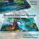Galda spēle Blackfire Stitched Playmat - Svetlin Velinov Edition Forest - Ultrafine 2mm BFPM403440