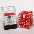 Blackfire Dice Cube - 12mm D6 36 Dice Set - Opaque Red 91685